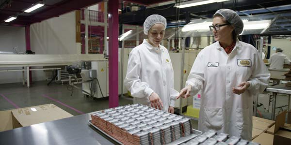Jean Thompson, owner and CEO at their Seattle Chocolate Factory.