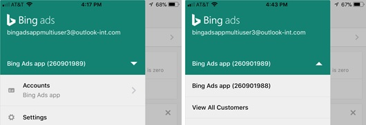 Manage multiple accounts at Bing ad
