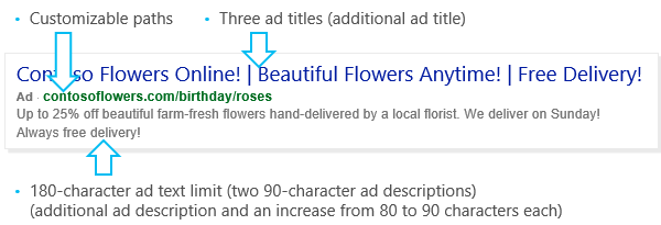 Example of an Expanded Text Ad.