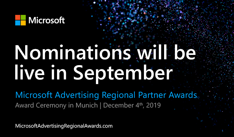 Nominations will be live in September 2019