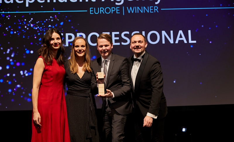 EPROFESSIONAL accepting their award