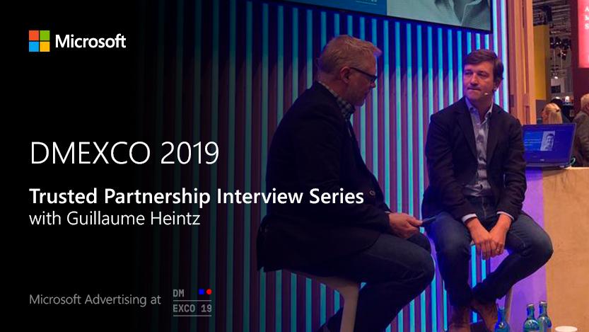 Jon Burkhart führt ein Interview mit Dolead auf der MicrosoftStage bei der DMEXCO2019