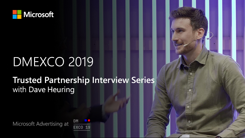 Jon Burkhart interviews EPROFESSIONAL on the Microsoft Stage at DMEXCO 2019