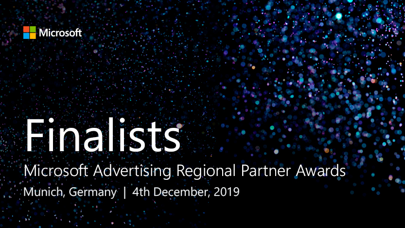 Microsoft Advertising Regional Partner Awards will be held in Munich, Germany on 4th December 2019