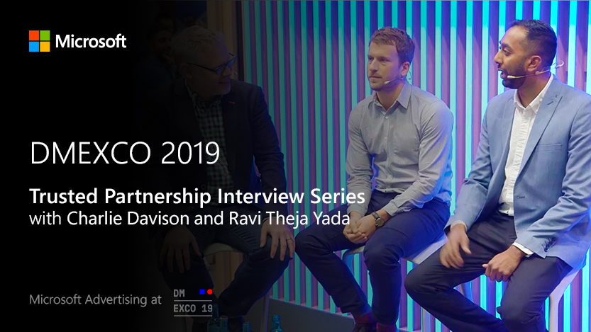 Jon Burkhart interviews Reprise on the Microsoft Stage at DMEXCO 2019