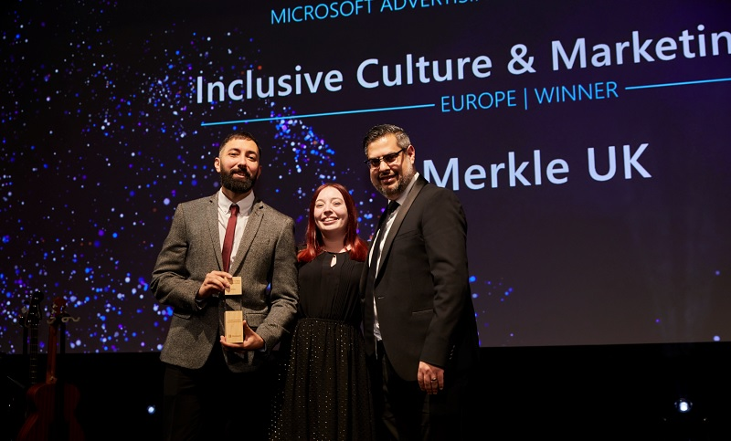 Merkle UK accepting their award