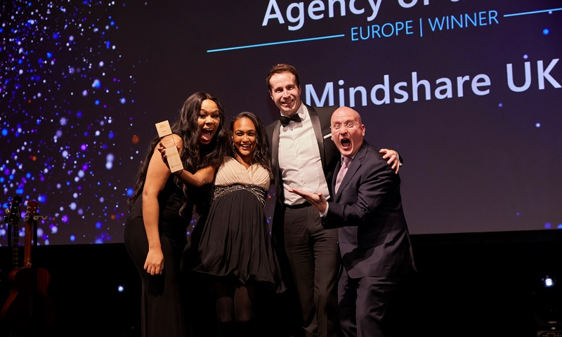 Mindshare UK accepting their award