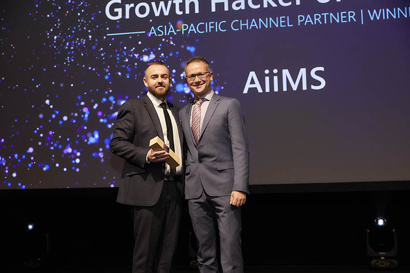 Channel Partner Growth Hacker of the Year award winner: AiiMS.