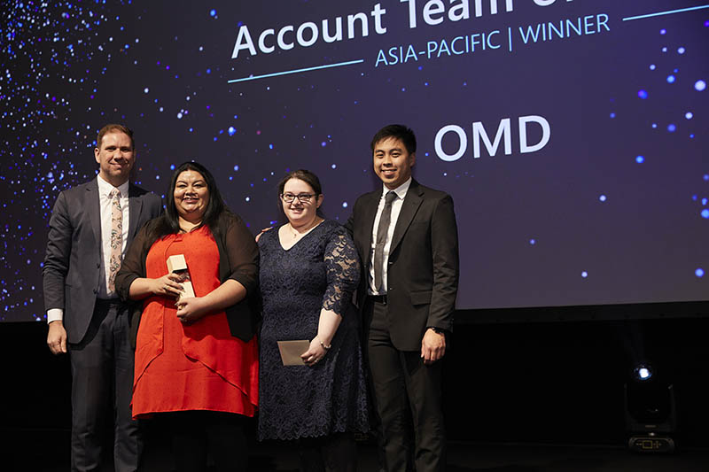Account Team of the Year award winner: The Telstra Team of OMD.