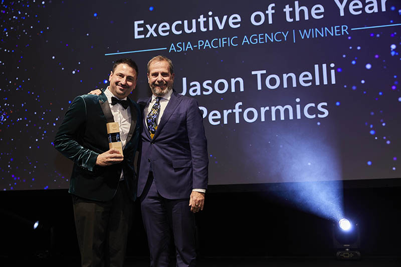 Executive of the Year award winner Agency: Jason Tonelli of Performics.