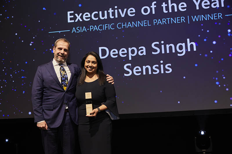 Executive of the Year award winner: Channel Partner: Deepa Singh of Sensis.