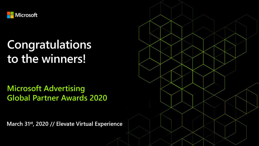 Enhorabuena a los ganadores del premio Microsoft Advertising Global Partner de 2020.