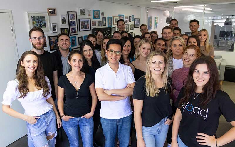 The team from Reload Media, Microsoft Advertising Celebrated Partner award winners for September 2020.