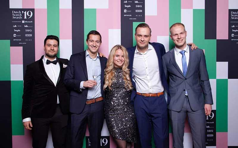 The team from Maatwerk, Microsoft Advertising Celebrated Partner award winners for September 2020.