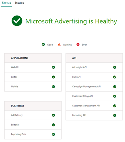 Picture of Microsoft Advertising Health Blog user interface