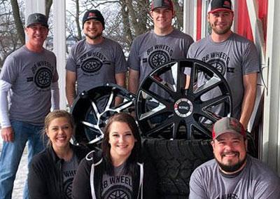 Photo of BB Wheels team members
