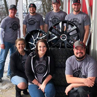 Photo of BB Wheels team members