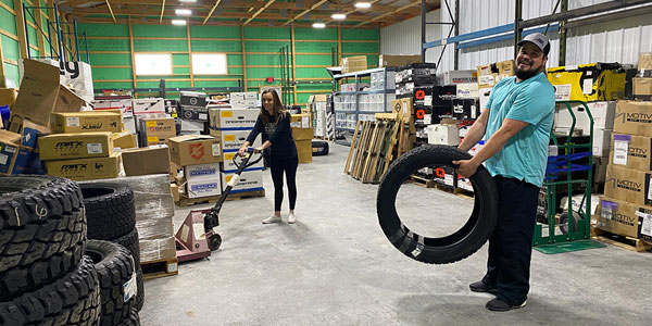 BB Wheels warehouse employees