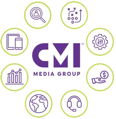 graphic showing CMI Media Group's offerings