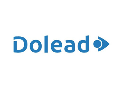 Image of the Dolead logo showing the name Dolead in text with a blue arrow pointing to the right.
