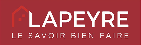 Image du logo Lapeyre montrant le nom Lapeyre avec un croquis de maison.