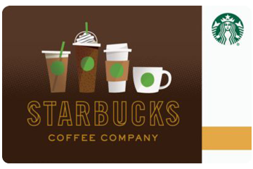 Starbucks Coffee gift cards.