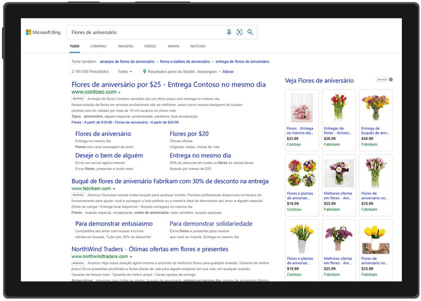 Anúncios de busca